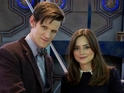 Matt Smith and Jenna-Louise Coleman with a BAFTA statuette