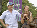 Jeff Probst awards Dawn Meehan with the Immunity Idol during episode 13 of 'Survivor: Caramoan'
