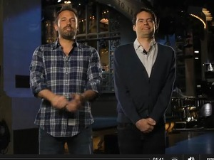 Ben Affleck and Bill Hader promote 'SNL'