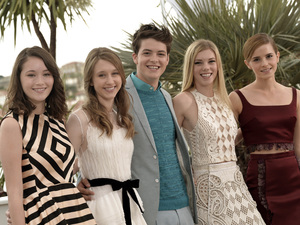 Katie Chang, Taissa Fariga, Israel Broussard, Claire Julien, Emma Watson, Bling Ring, 66th Cannes Film Festival 
