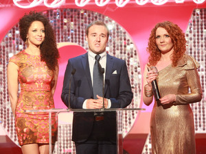 Coronation Street&#39;s Natalie Gumede, Alan Halsall and Jennie McAlpine at the British Soap Awards 2013