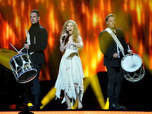 Denmark&#39;s Emmelie de Forest performing &#39;Only Teardrops&#39; at Eurovision 2013