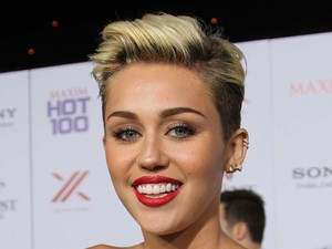 Miley Cyrus, quiff blonde, Maxim Hot 100 Party