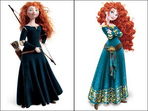 Princess Merida: Before and After