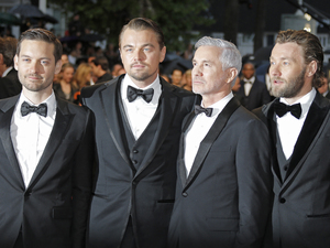 The Great Gatsby screening at the 66th Cannes film festival: Tobey Maguire, Leonardo DiCaprio, director Baz Luhrmann and actor Joel Edgerton