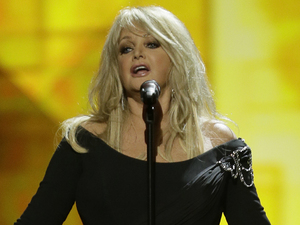 Bonnie Tyler of Britain performs her song Believe in Me.