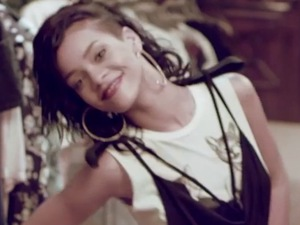 Rihanna behind the scenes at River Island