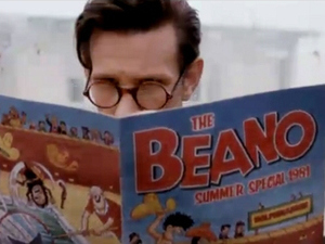 Beano appearing in an episode of 'Doctor Who'