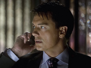 John Barrowman as Malcolm Merlyn in Arrow S01E22: &#39;Darkness on The Edge of Town&#39;