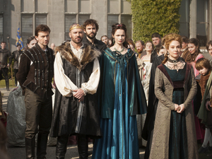 Torrance Coombs as Bash, Alan Van Sprang as King Henry II, Rossif Sutherland as Nostradamus, Anna Walton as Diane and Megan Follows as Catherine de' Medici in 'Reign'