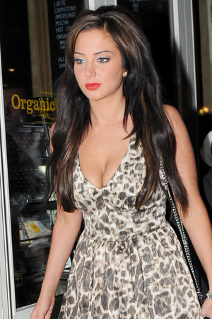 Tulisa Contostavlos leaves Freedom Bar in Soho.
