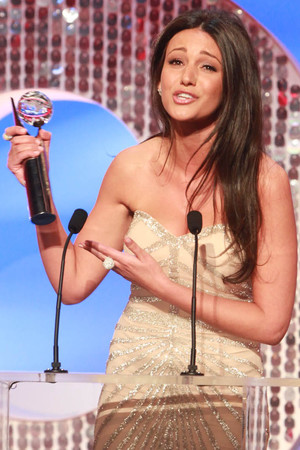 Michelle Keegan with the Sexiest female gong.