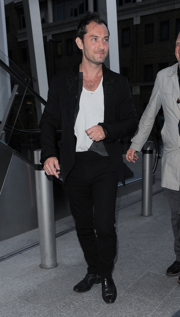 Jude Law, Listening party for Daft Punk's new album 'Random Access Memories' at The Shard