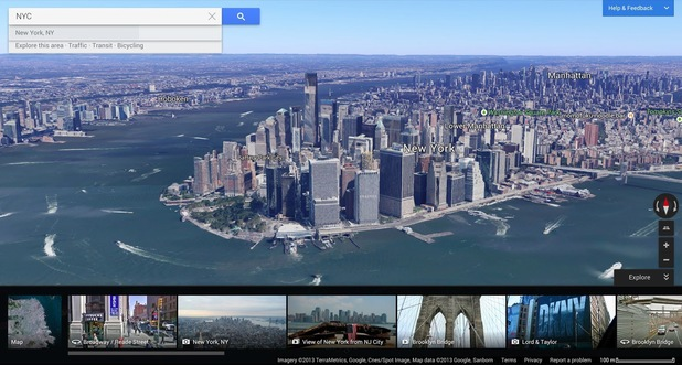 The new Google Maps Earth view