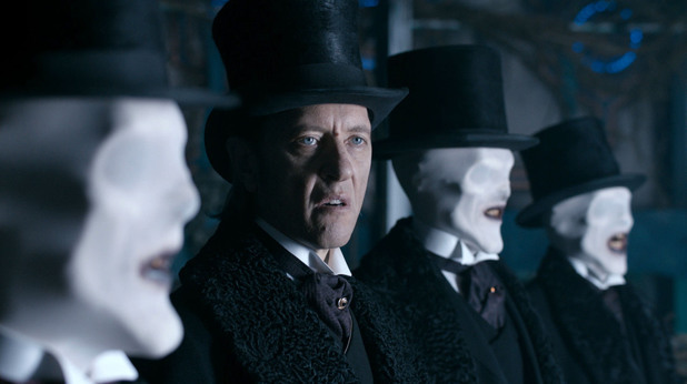 'Doctor Who': Series 7 finale 'The Name of the Doctor': The Great Intelligence (Richard E Grant) flanked by The Whispermen