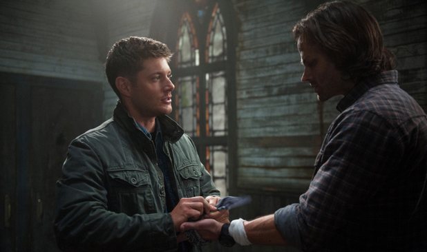 Jensen Ackles as Dean and Jared Padalecki as Sam in Supernatural S08E23: 'Sacrifice'