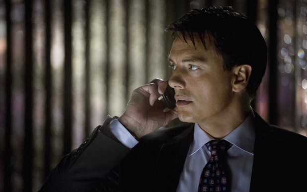 John Barrowman as Malcolm Merlyn in Arrow S01E22: 'Darkness on The Edge of Town'
