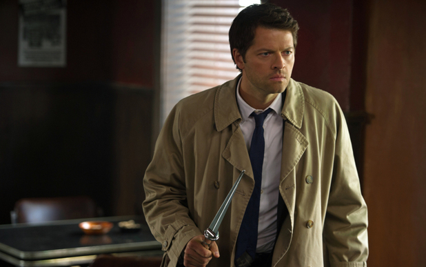 Misha Collins as Castiel in Supernatural S08E23: 'Sacrifice'