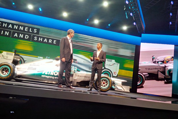 Lewis Hamilton at BlackBerry Live 2013