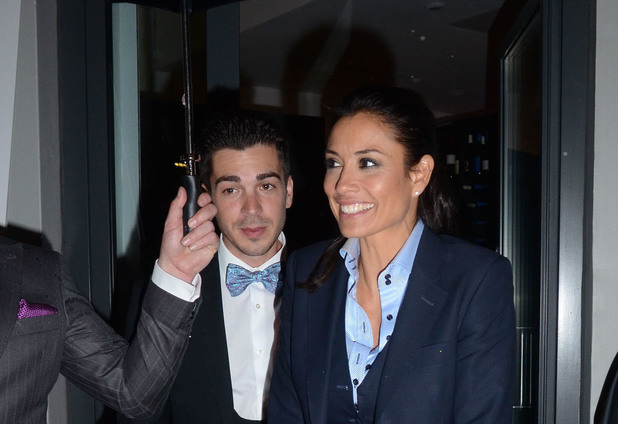 Melanie Sykes, Jack Cockings, Aston Martin Tailoring collection VIP launch at The Clerkenwell Collection