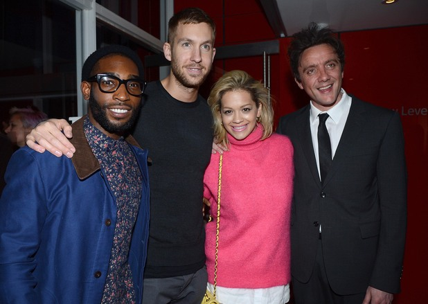 Tinie Tempah, Calvin Harris, Rita Ora and Peter Serafinowicz, Daft Punk album playback ~~ May 13, 2013