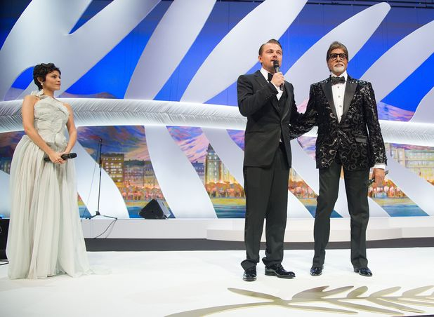 Audrey Tautou, Amitabh Bachchan and Leonardo DiCaprio opening the 66th Cannes Film Festival