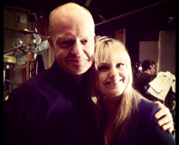 Jake Wood and Jo Joyner after filming their final EastEnders scene together
