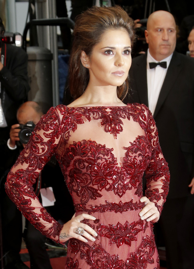 Cheryl Cole arrives for the screening of Jimmy P. Psychotherapy of a Plains Indian at the 66th international film festival, in Cannes,