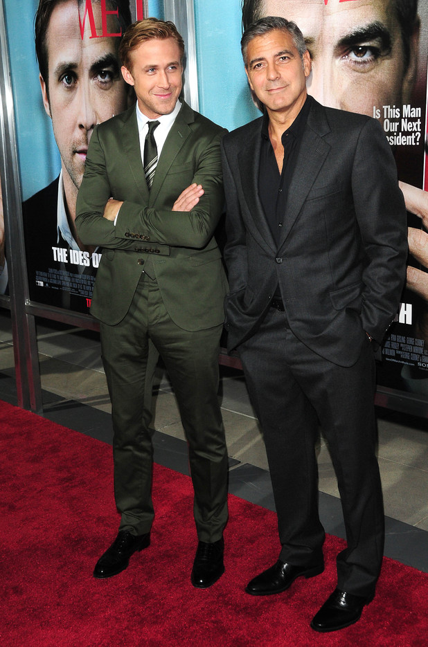 Ryan Gosling and George Clooney