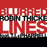 Robin Thicke, Pharrell Williams & TI 'Blurred Lines' artwork.