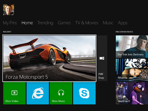 First images of the Xbox One - main screen