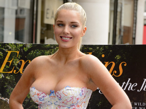 Helen Flanagan launches her PETA 'Leave Wildlife out of Your Wardrobe' anti-exotic skins advert, London