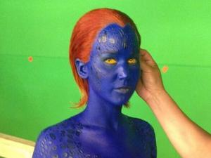 Jennifer Lawrence as Mystique in XMen: Days of Future Past