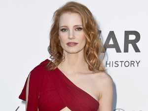Jessica Chastain, amfAR Cinema Against AIDS benefit at the Hotel du Cap-Eden-Roc, Saint Laurent dress cutout detail