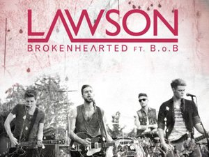 Lawson 'Brokenhearted' artwork.