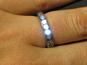 Ben Kokes's glowing engagement ring