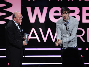GIF file format creator Steve Wilhite with Tumblr's founder David Karp