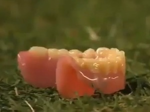 Football fan throws false teeth onto pitch in Argentina