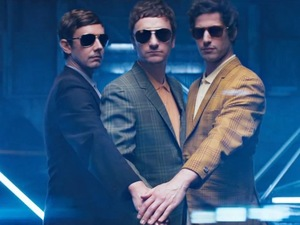 The Lonely Island 'Diaper Money' video still.