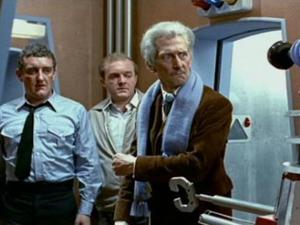 Bernard Cribbins alongside Peter Cushing in 'Daleks – Invasion Earth: 2150 A.D.'