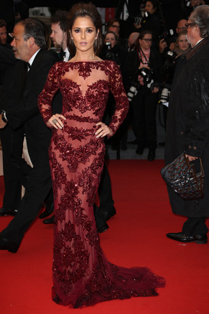 Cheryl Cole, Zurhair Murad gown, sheer gown, 'Jimmy P. Psychotherapy of Plains Indian' film premiere, 66th Cannes Film Festival