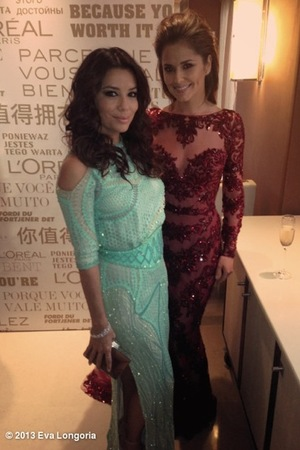 Eva Longoria, Cheryl Cole, 2013 Cannes 66th Film Festival, L'Oreal Reception