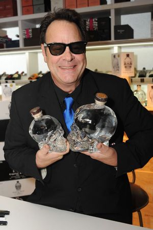 Dan Aykroyd promotes his Crystal head vodka