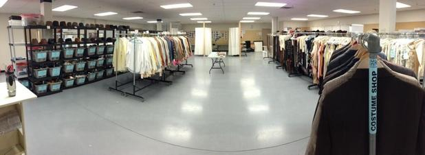 The wardrobe department
