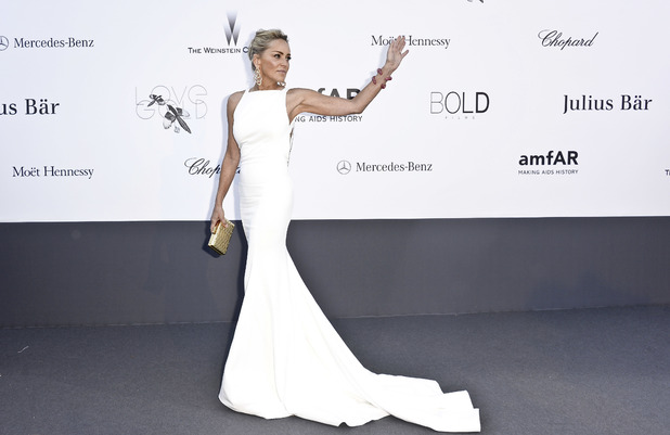 Sharon Stone, amfAR Cinema Against Aids 2013 Gala, 66th Cannes Film Festival