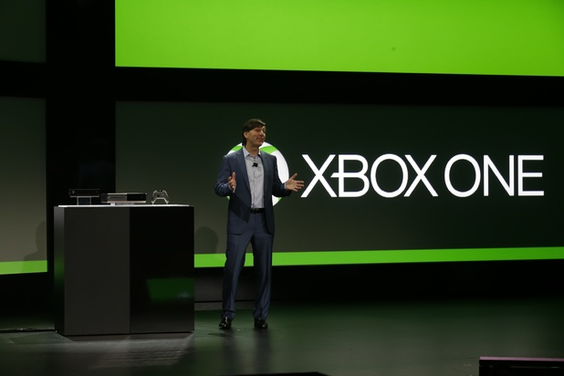 Microsoft Corp.'s Don Mattrick unveils the next-generation Xbox entertainment and gaming console system, Tuesday, May 21, 2013, at an event in Redmond, Wash.
