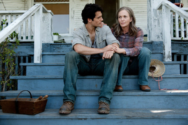 Henry Cavill as Clark Kent and Diane Lane as Martha Kent in Man of Steel