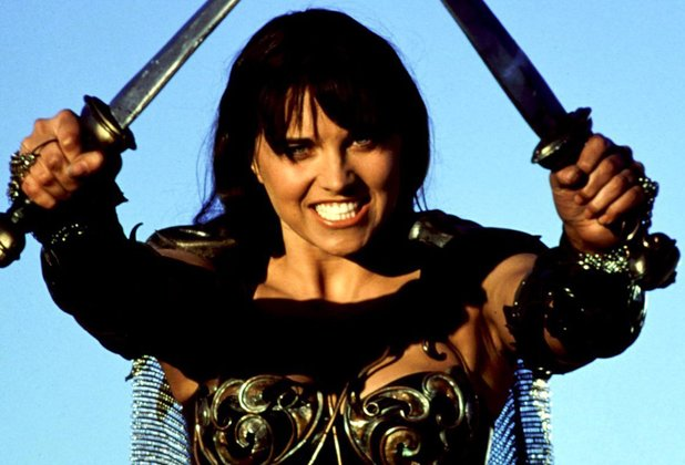 Lucy Lawless in 'Xena: Warrior Princess'