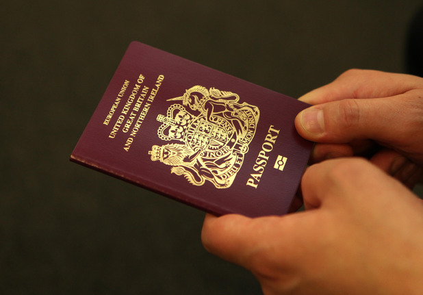 Stock image of a UK passport