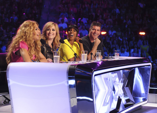 The judges share a joke
